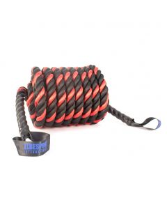 Battle Rope Synthetik 15 m schwarz / rot