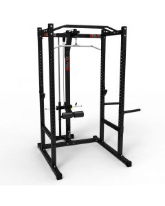 Power Rack mit Latzug Plate Load